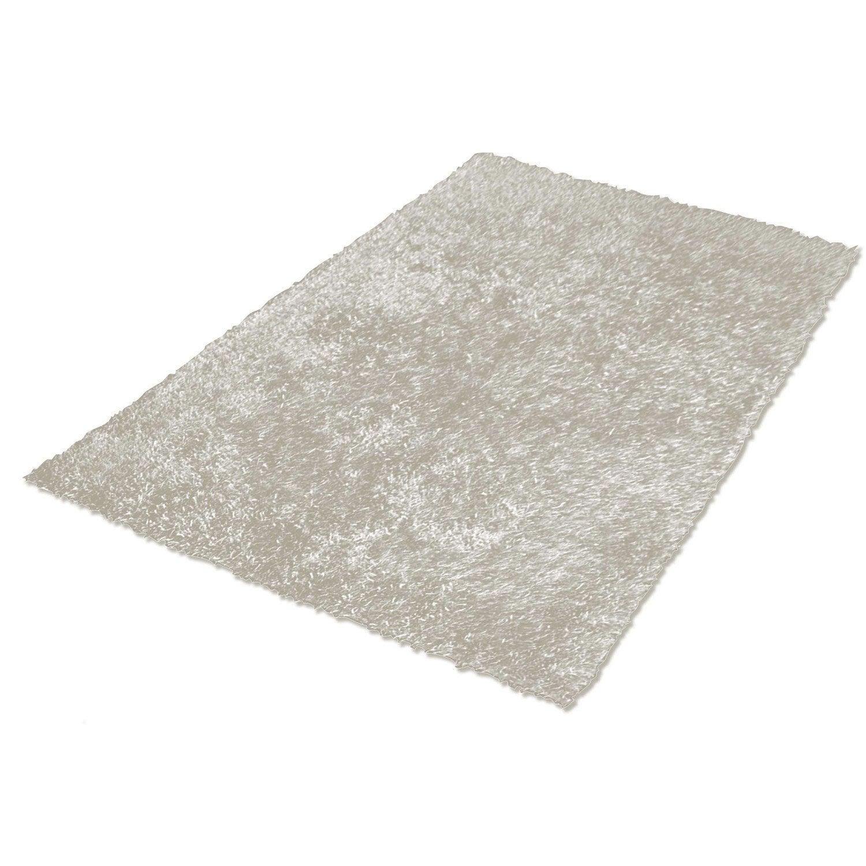 tapis taupe shaggy lilou x cm leroy merlin. Black Bedroom Furniture Sets. Home Design Ideas