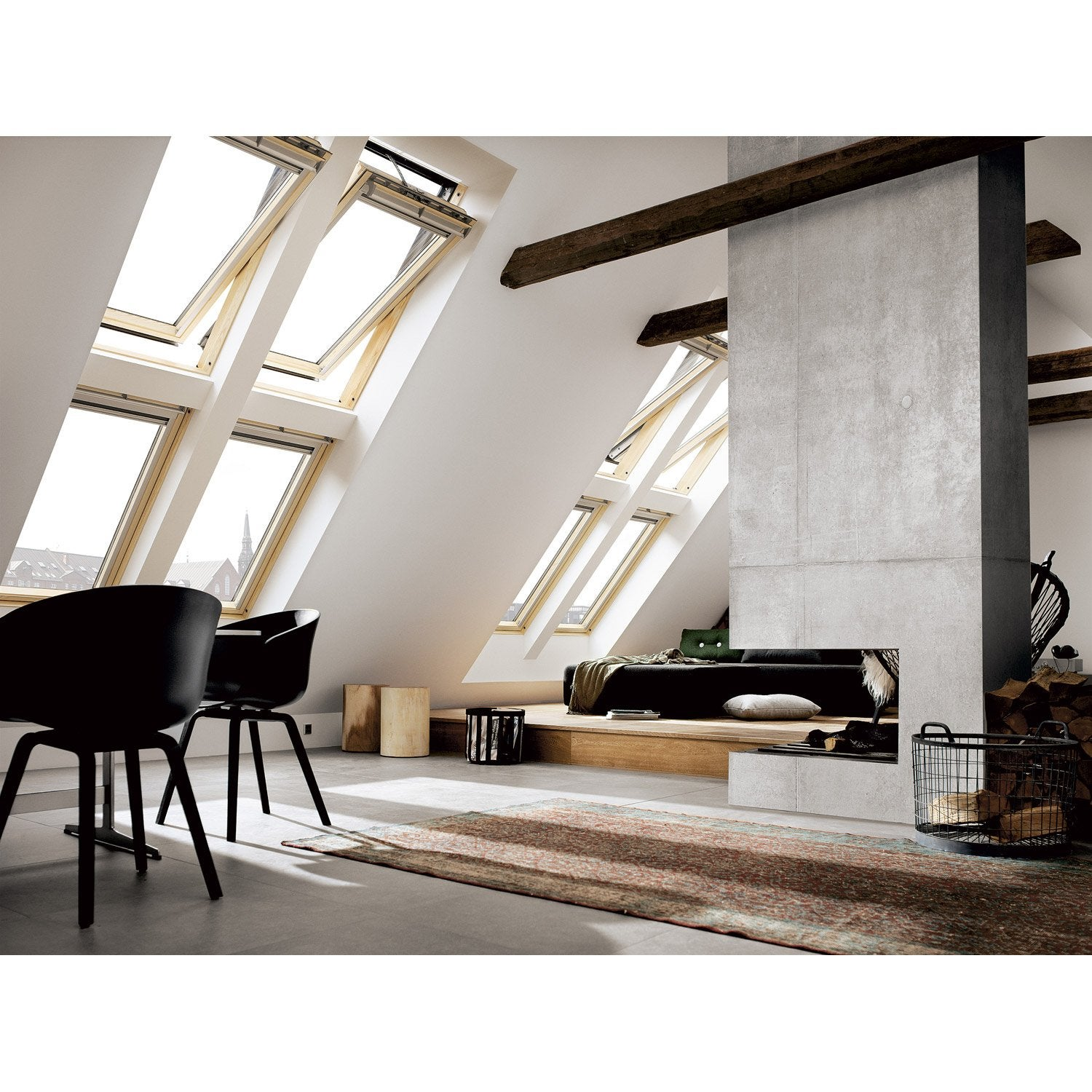 velux ggl mk04 tout confort integra par rotation 78 x 98 cm leroy merlin. Black Bedroom Furniture Sets. Home Design Ideas