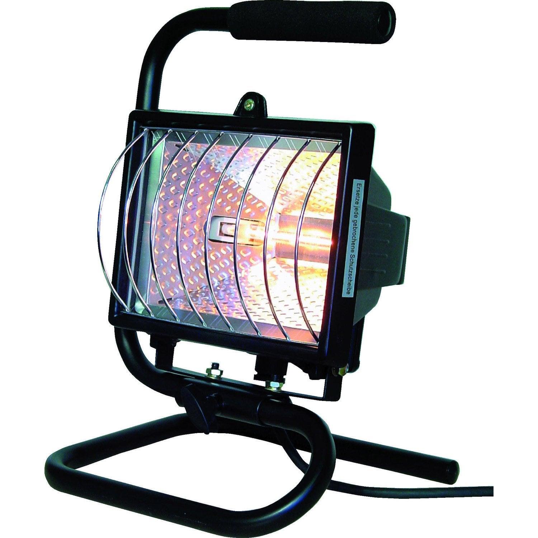 projecteur de chantier portable halog ne 1 x 400 w r7s noir leroy merlin. Black Bedroom Furniture Sets. Home Design Ideas
