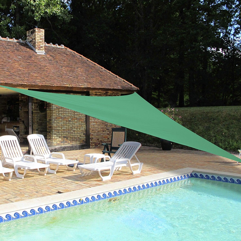 voile d 39 ombrage triangle bleu x cm leroy merlin. Black Bedroom Furniture Sets. Home Design Ideas