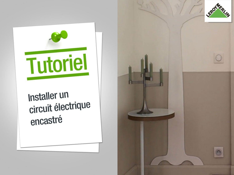 comment installer une prise ou interrupteur avec un circuit encastré