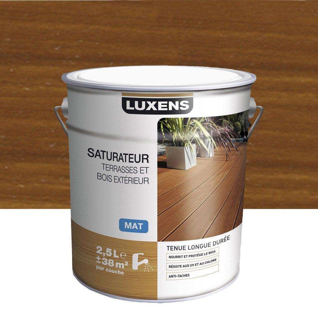 Terrasse Teck Leroy Merlin : Saturateur bois LUXENS, teck, aspect mat, 2 5 L Leroy Merlin