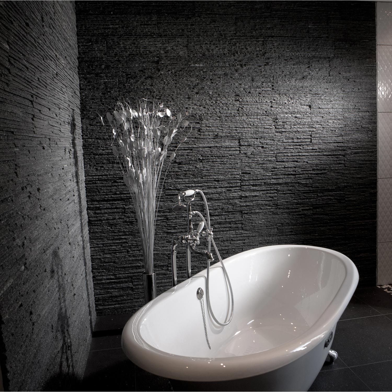 Plaquette de parement pierre naturelle noir victoria for Plaquette de parement cuisine