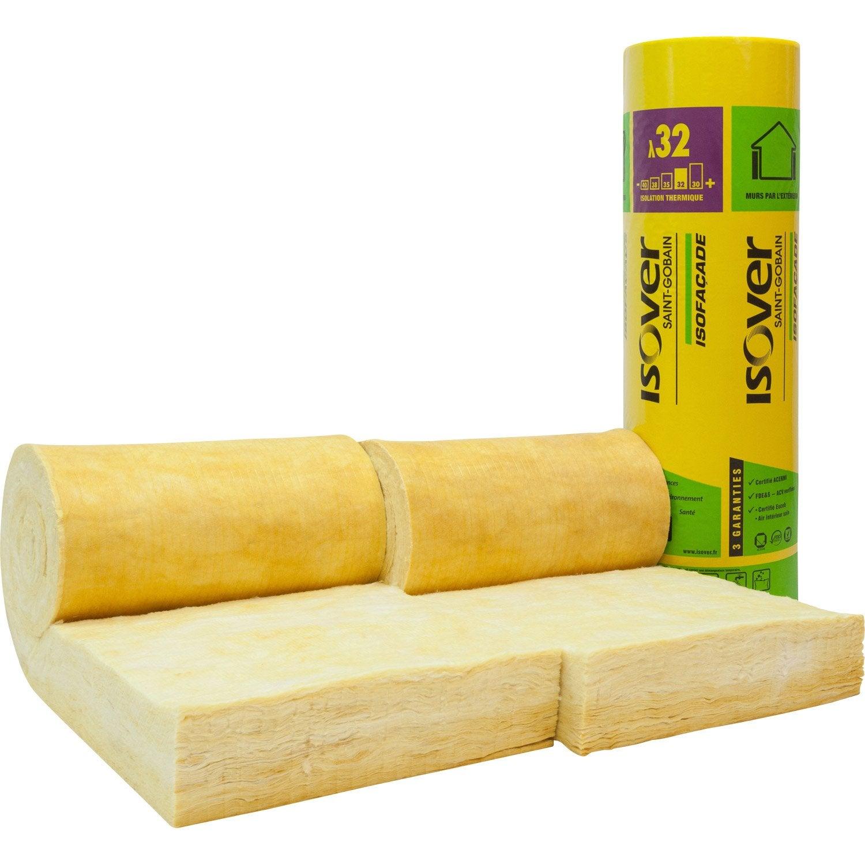 2 rouleaux de laine de verre lambda r isover leroy merlin. Black Bedroom Furniture Sets. Home Design Ideas