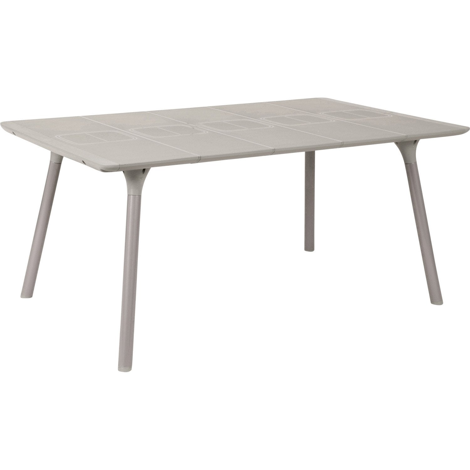 Table de jardin naterial playmood rectangulaire lin 6 personnes leroy merlin - Table de cuisson leroy merlin ...
