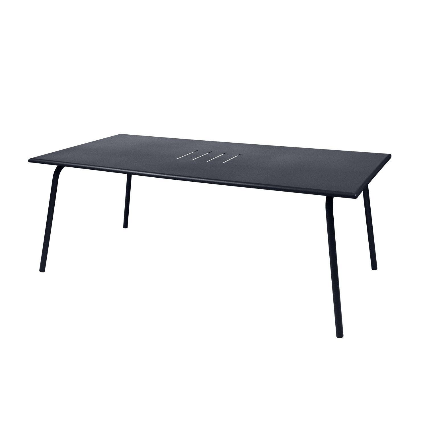 table de jardin fermob monceau rectangulaire carbone 8 personnes leroy merlin. Black Bedroom Furniture Sets. Home Design Ideas
