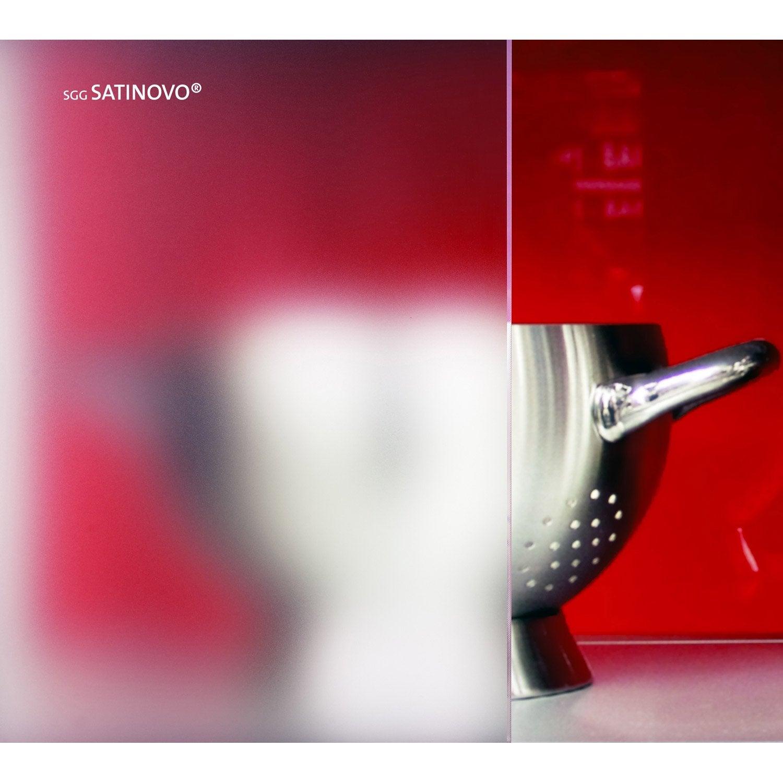 Formidable Plexiglass Sur Mesure Leroy Merlin #13: Verre Dépoli Blanc Laiteux L.100 X L.100 Cm 4 Mm