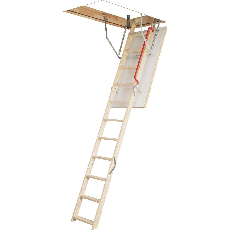Escalier escamotable droit structure bois marche bois leroy merlin - Bloc marche leroy merlin ...