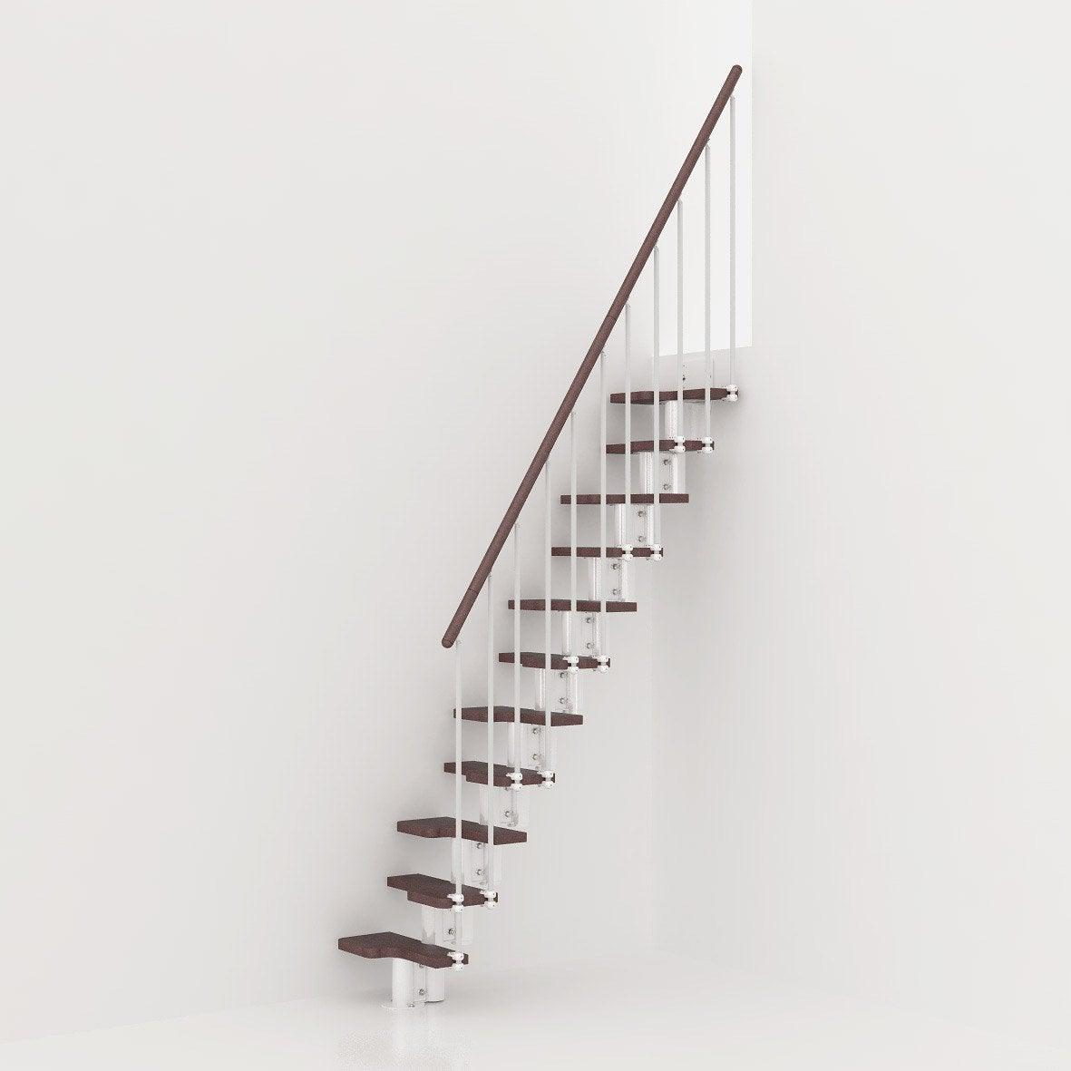 hauteur pour escalier mini blanc bois fonc leroy merlin. Black Bedroom Furniture Sets. Home Design Ideas