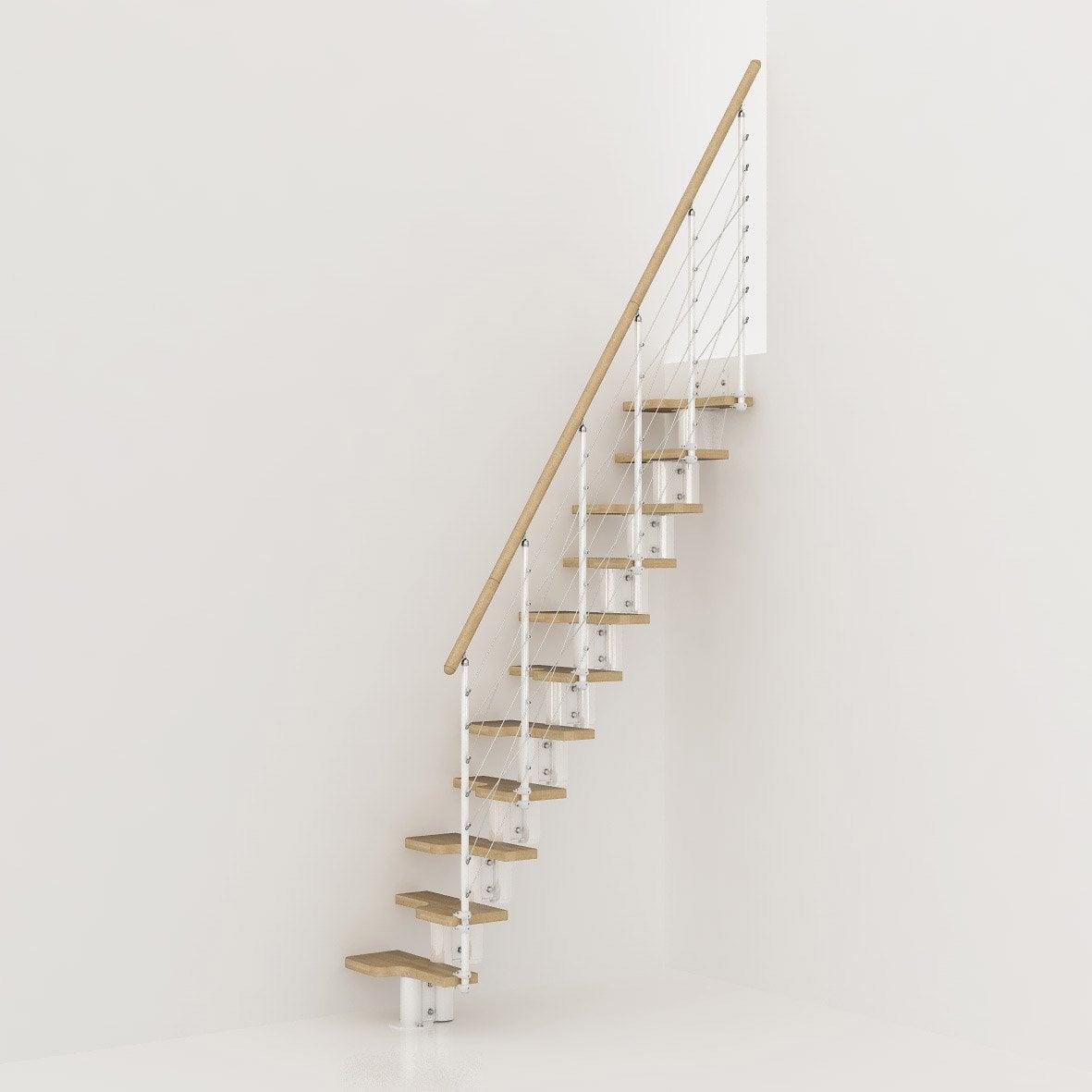 hauteur pour escalier mini line blanc bois clair leroy merlin. Black Bedroom Furniture Sets. Home Design Ideas