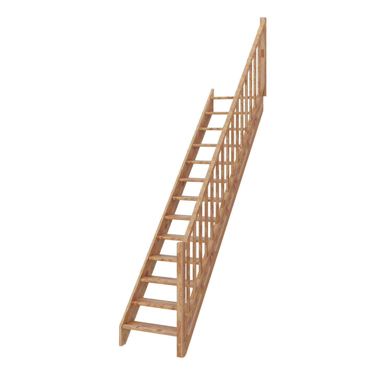 escalier droit deva structure bois lamell coll marche. Black Bedroom Furniture Sets. Home Design Ideas