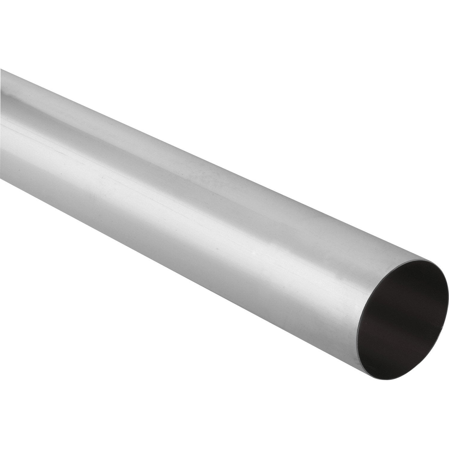 Tuyau de descente zinc gris mm l 2 m scover plus for Tube pvc 100 diametre interieur