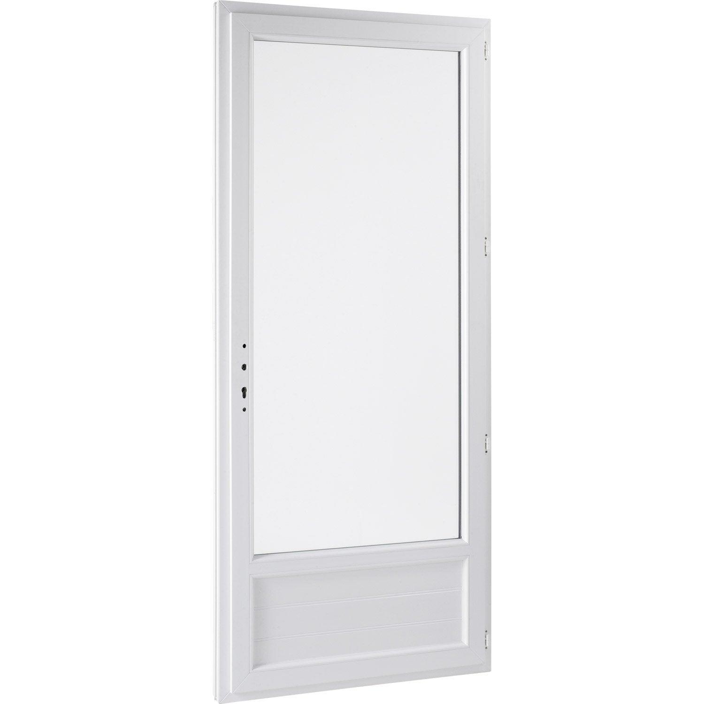 Porte fen tre pvc 1 vantail ouvrant la fran aise x cm leroy me - Porte vitree leroy merlin ...