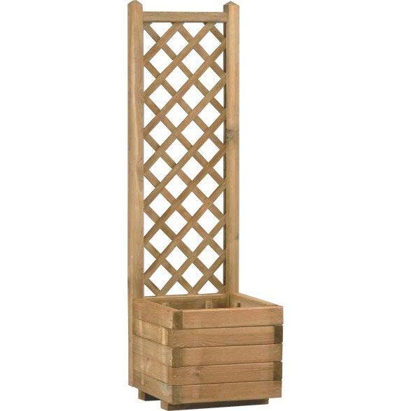 Bac A Fleur En Bois Leroy Merlin : Bac en bois BURGER, L.40 x l.40 x H.135.5 cm Leroy Merlin