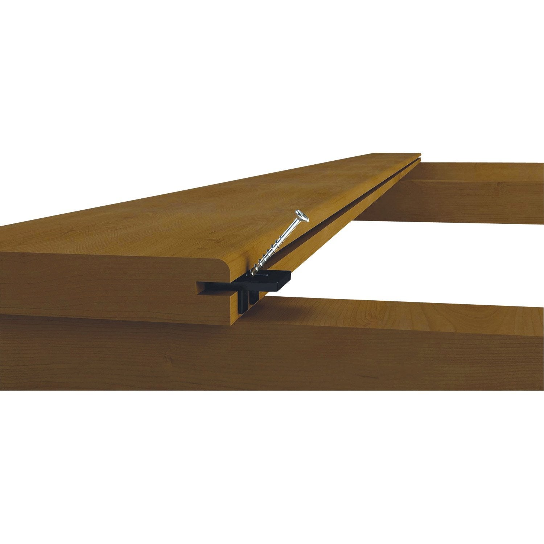 Kit clips de fixation pour lames de terrasses Softwood SPAX  Leroy