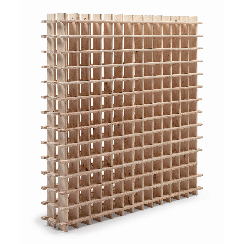 casier de 169 bouteilles en pin brut leroy merlin. Black Bedroom Furniture Sets. Home Design Ideas