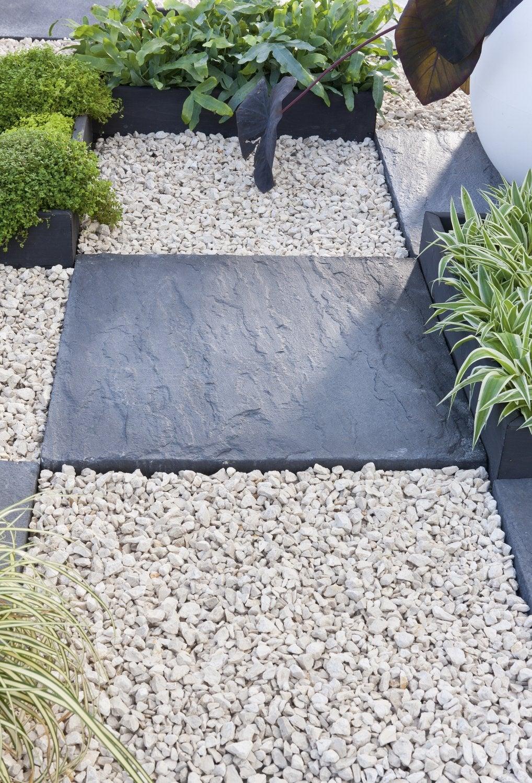 jardin cailloux blancs. Black Bedroom Furniture Sets. Home Design Ideas