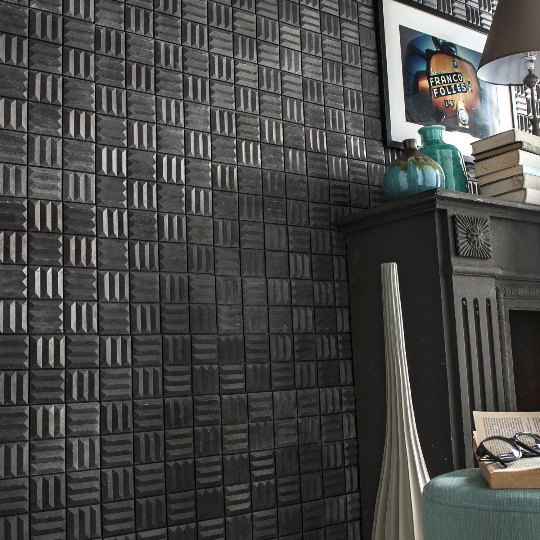 plaquette de parement b ton gris zing motion subway leroy merlin. Black Bedroom Furniture Sets. Home Design Ideas