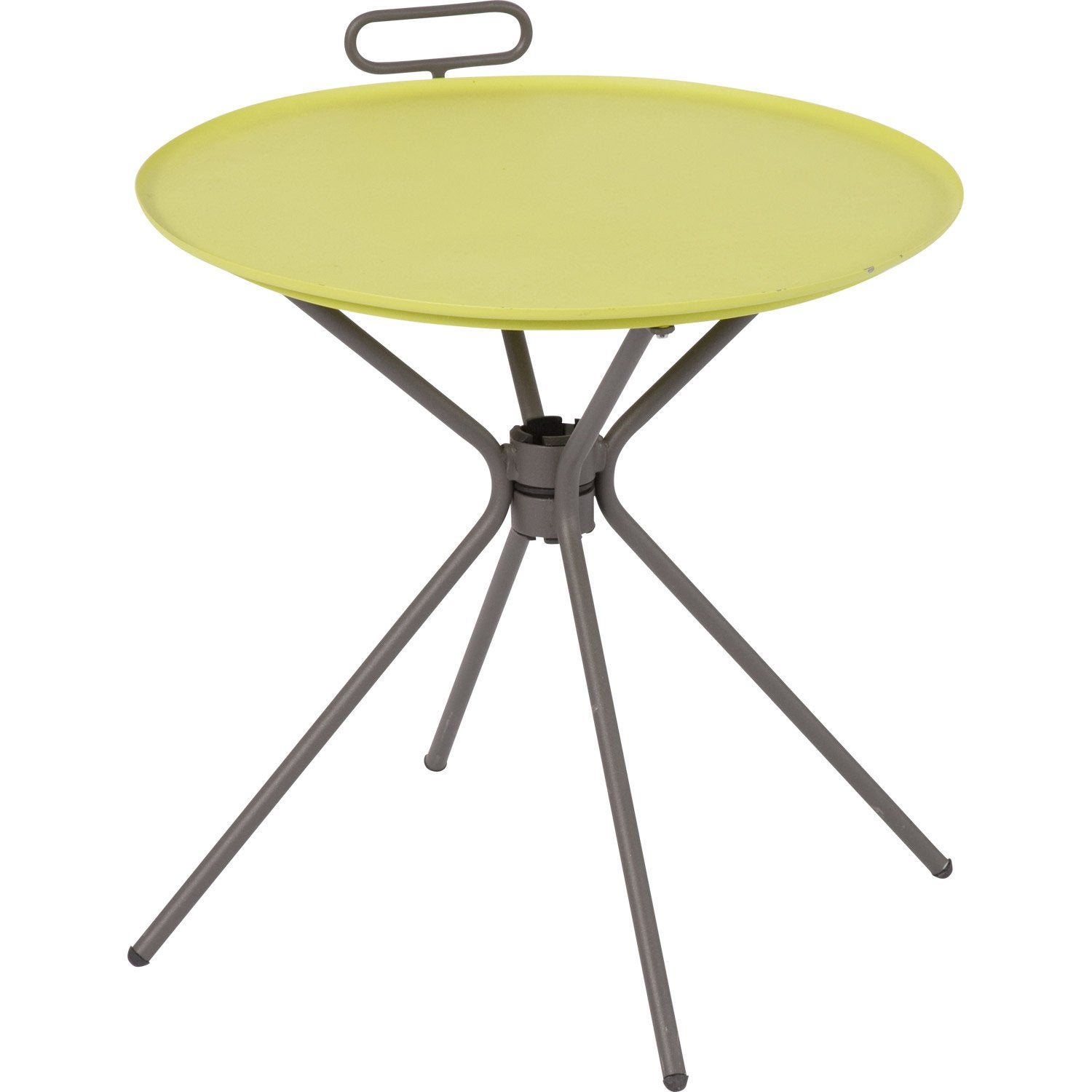 Table basse gu ridon ronde vert 2 personnes leroy merlin - Table rabattable leroy merlin ...