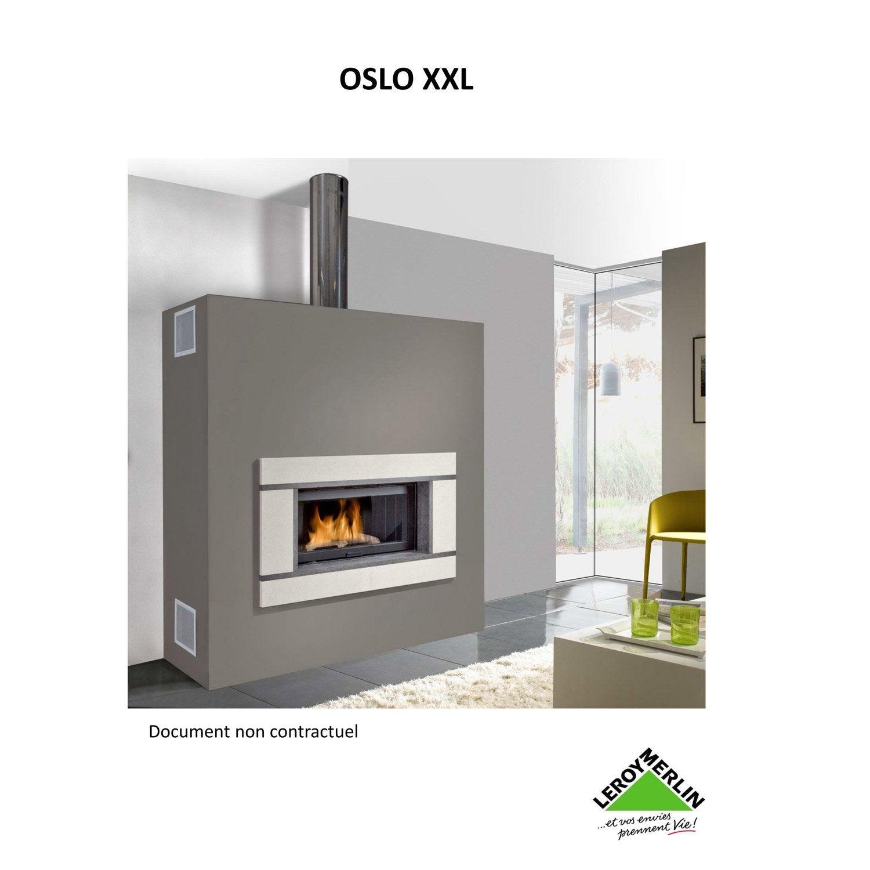 Habillage de chemin e cadre en pierre chinvest usine dargemont oslo xxl l - Encadrement de cheminee ...