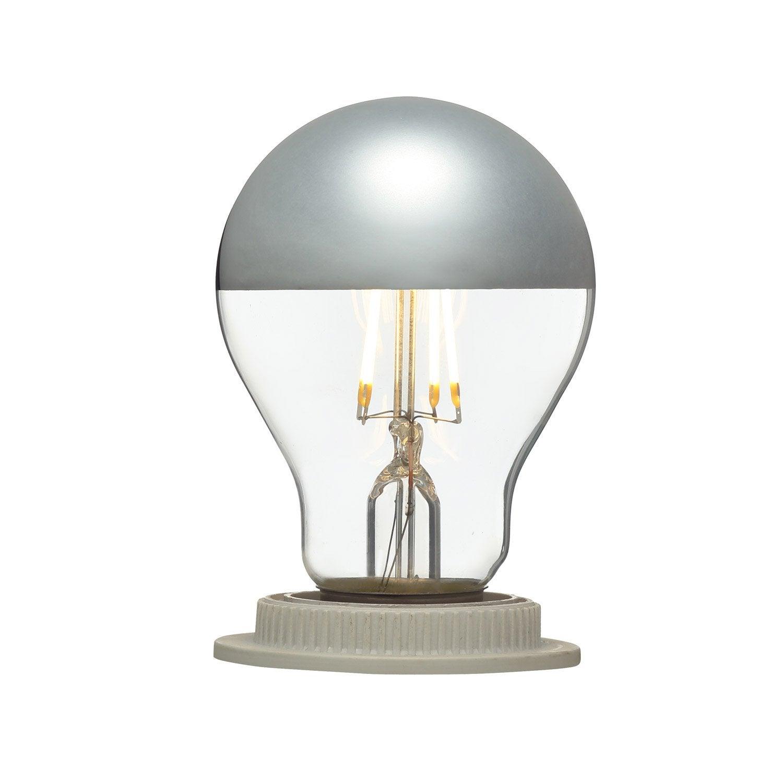 Ampoule LED calotte argentée E27 5W = 470Lm (équiv 40W) 2700K ...