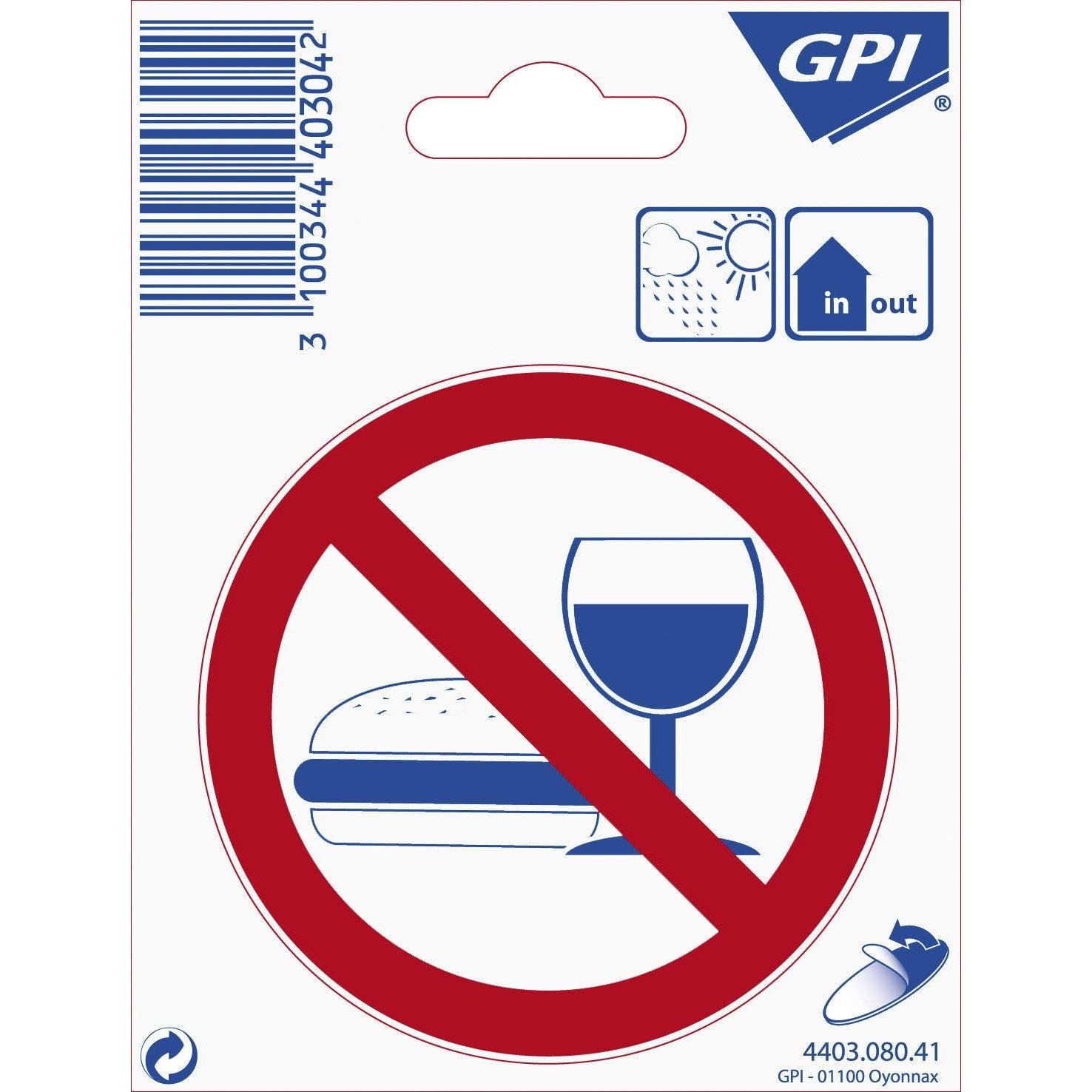 Plaque autocollante signalisation en plastique leroy merlin - Plaque plastique leroy merlin ...