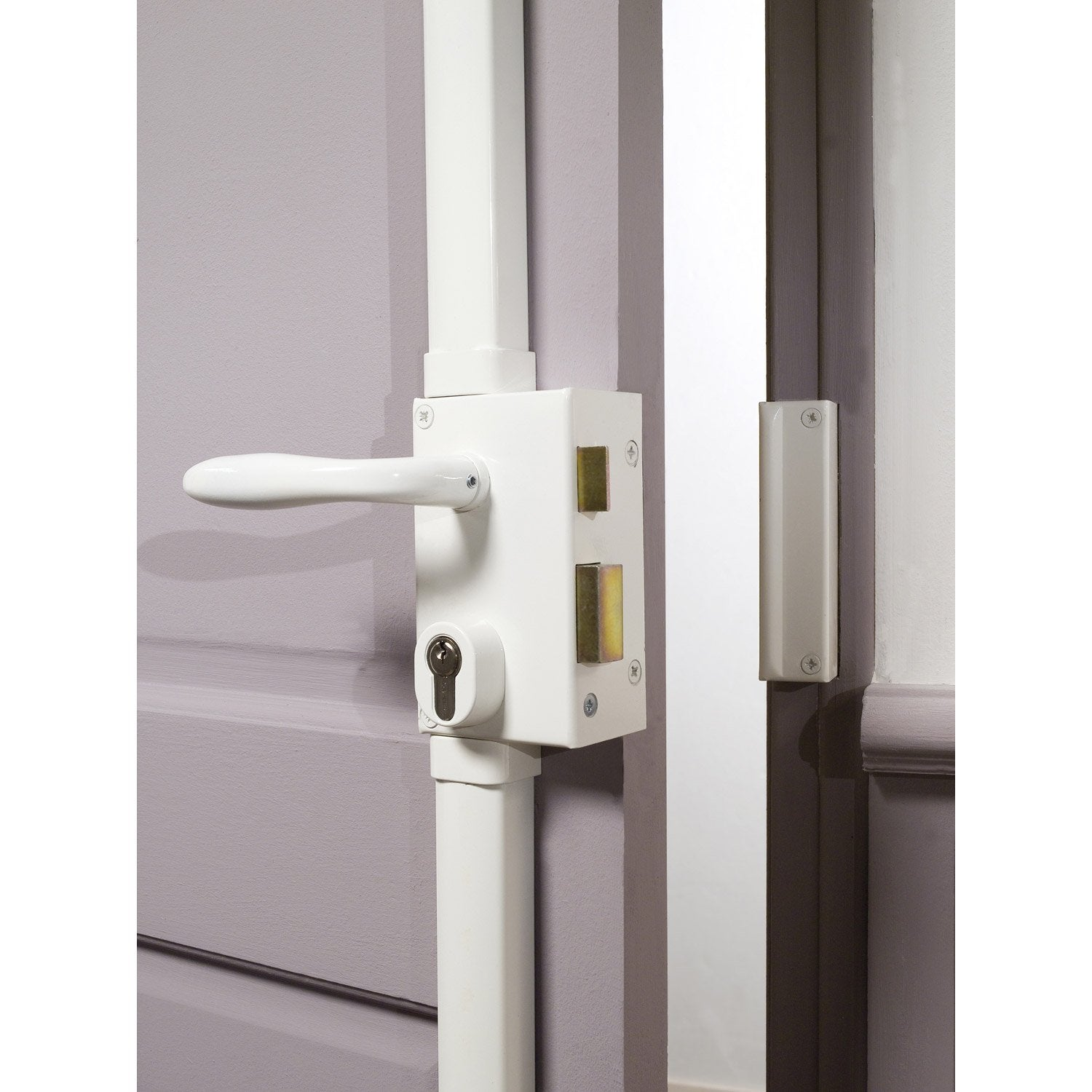 Serrure en applique multipoint bricard poign e gauche for Fermeture porte 5 points