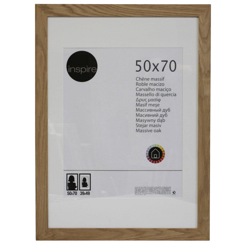 Cadre nakato 50 x 70 cm ch ne clair leroy merlin - Badspiegel 50 x 70 ...