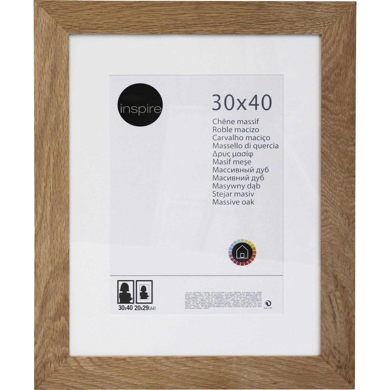 cadre nakato 30 x 40 cm ch ne clair leroy merlin. Black Bedroom Furniture Sets. Home Design Ideas