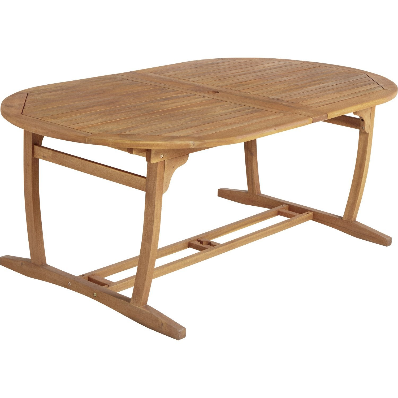 table de jardin ovale porto naterial leroy merlin. Black Bedroom Furniture Sets. Home Design Ideas