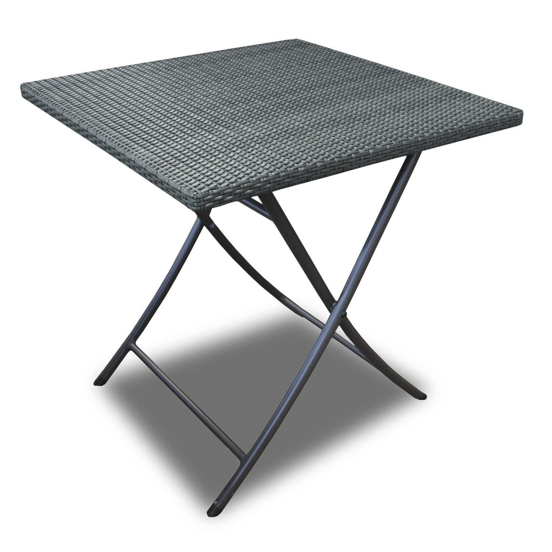 Table de jardin en r sine ice gris proloisirs leroy merlin - Leroy merlin table de jardin en resine ...