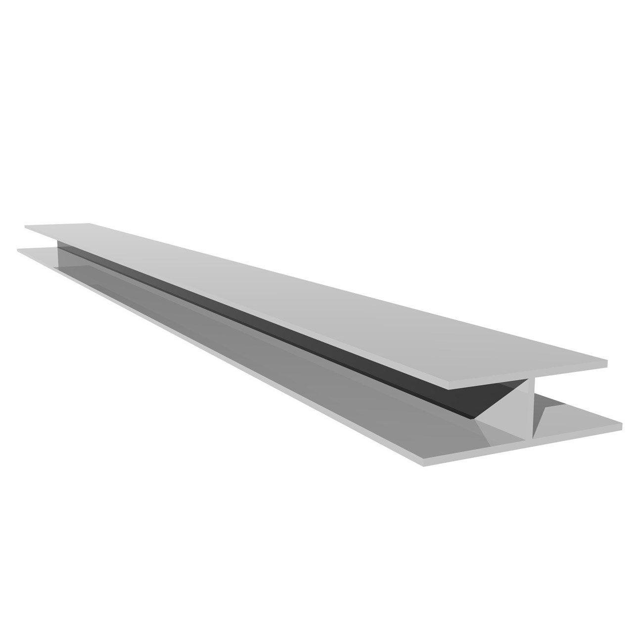 profil de jonction h blanc pvc l 3 m leroy merlin. Black Bedroom Furniture Sets. Home Design Ideas