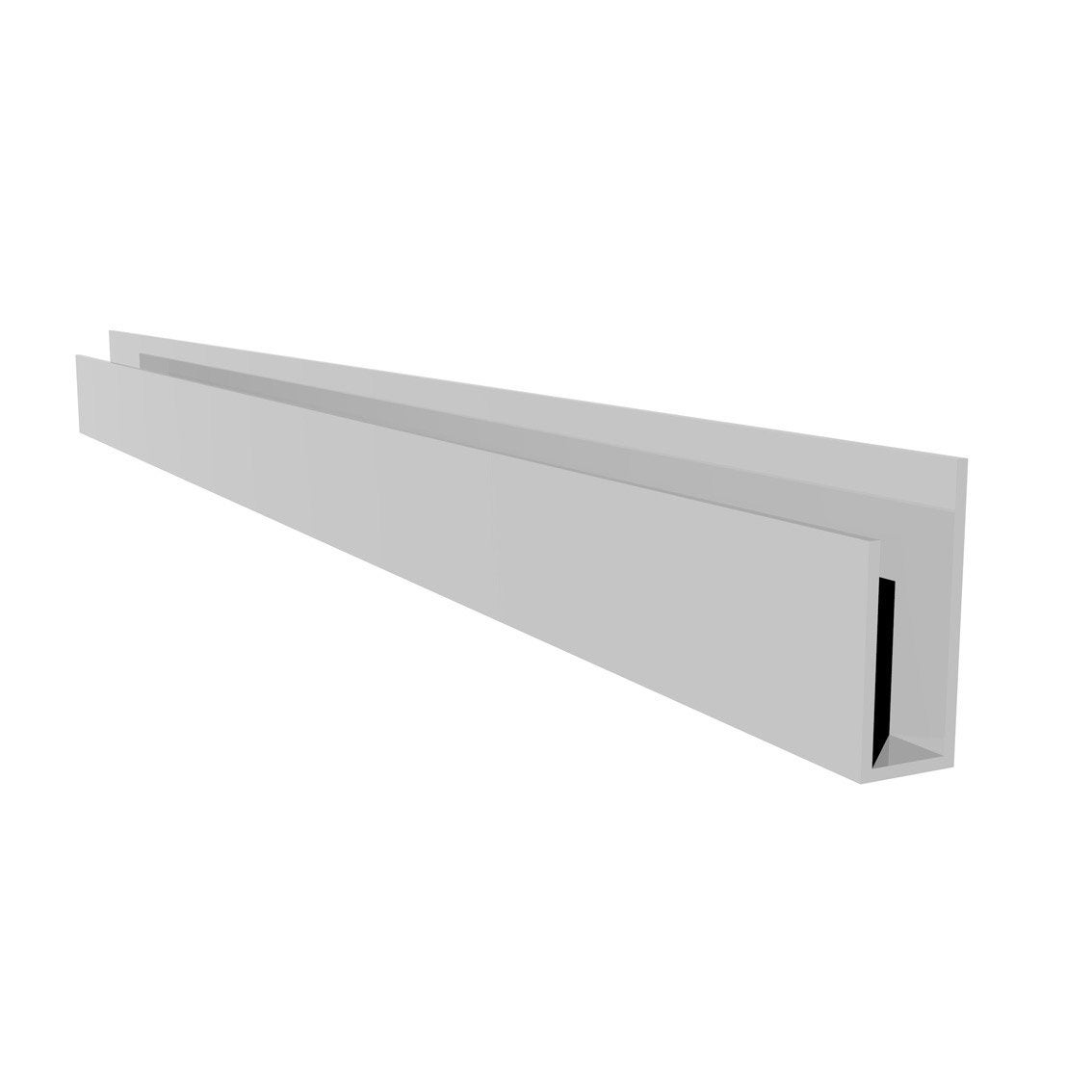 profil de d part u fsf1063 blanc pvc l 3 m x mm. Black Bedroom Furniture Sets. Home Design Ideas