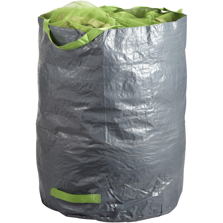 sac v g taux gazon feuilles r utilisable geolia 270 l leroy merlin. Black Bedroom Furniture Sets. Home Design Ideas