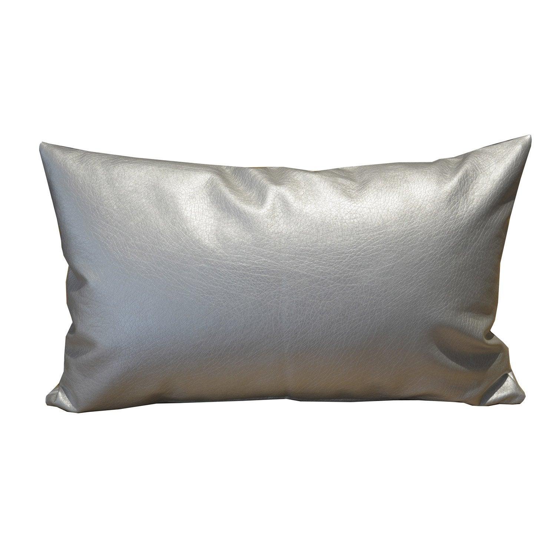 coussin sky argent 50 x 30 cm leroy merlin. Black Bedroom Furniture Sets. Home Design Ideas