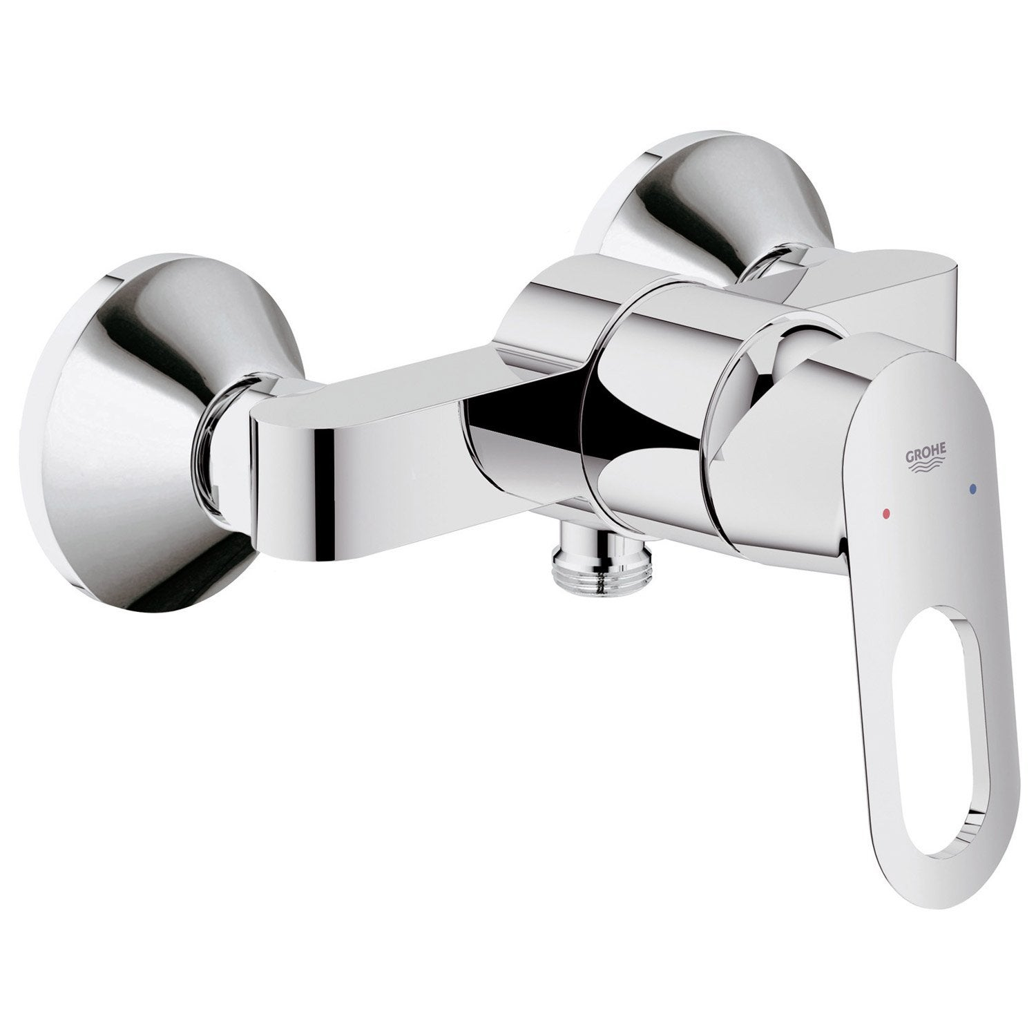 Mitigeur m canique douche chrom grohe start loop leroy for Leroy merlin mitigeur bain douche