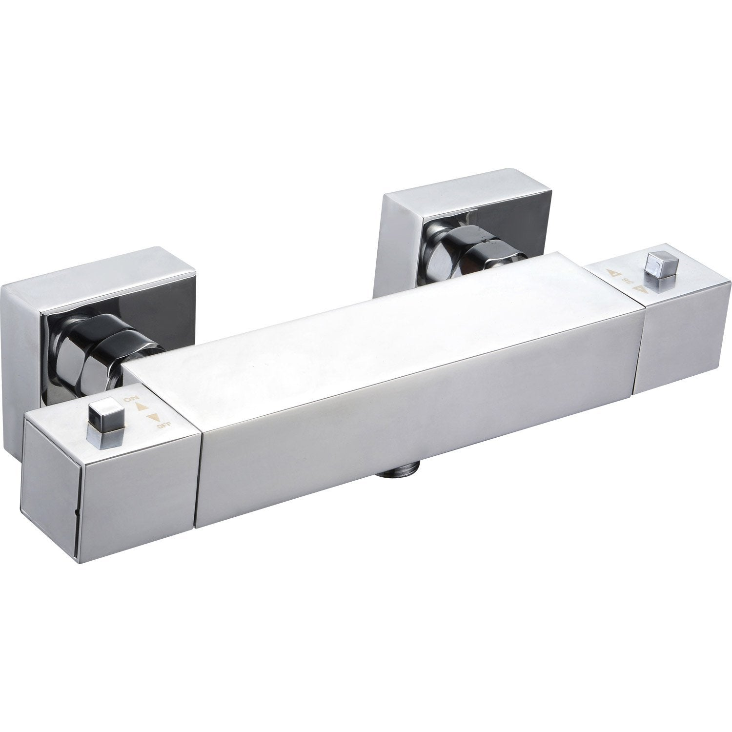 Mitigeur thermostatique de douche chrom sensea luka for Robinetterie leroy merlin salle de bain