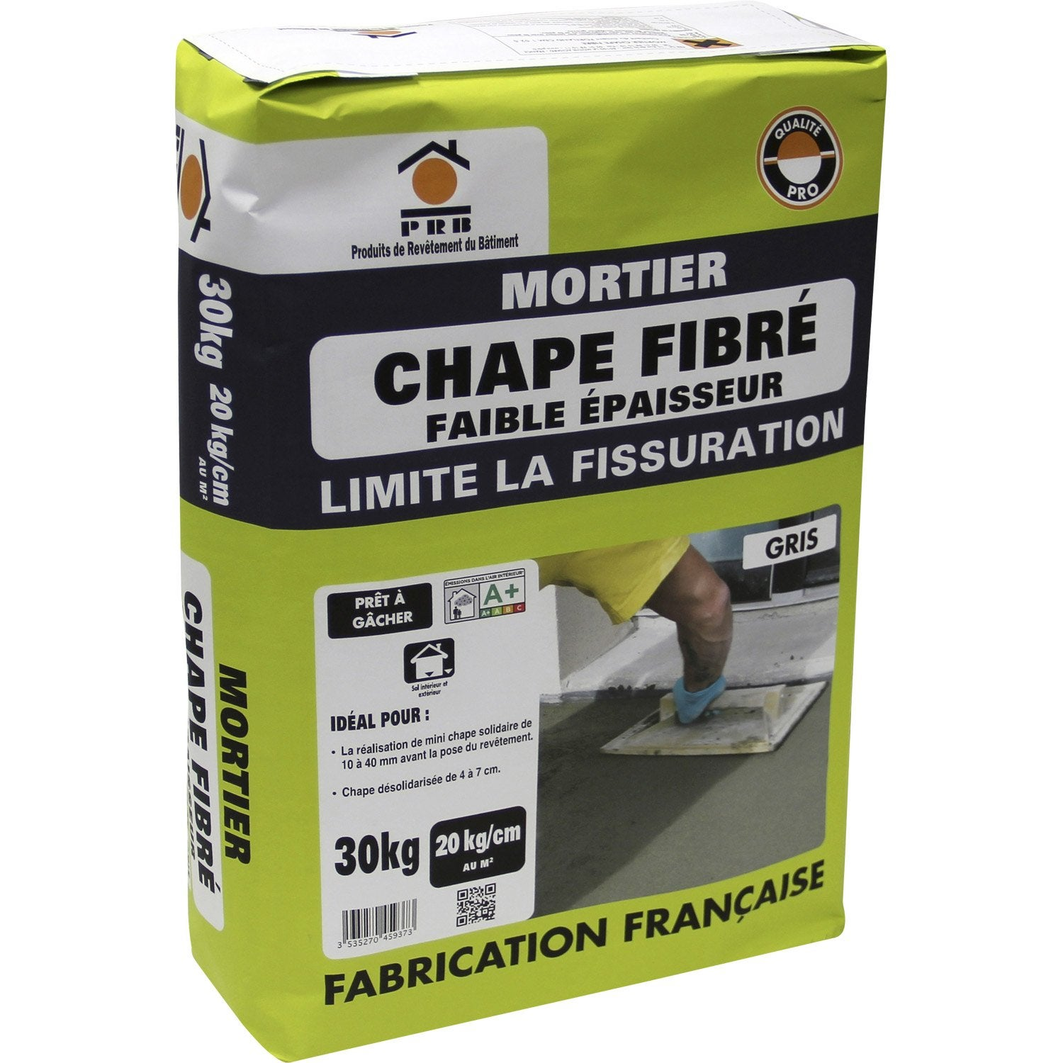 Mortier pour chape fibr gris prb 30kg leroy merlin for Dosage mortier pour chape