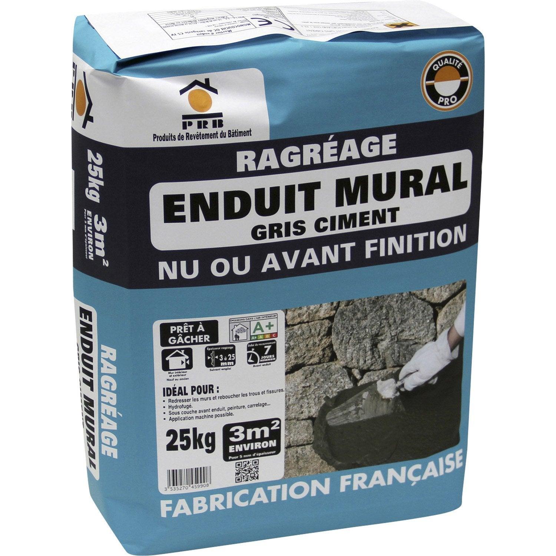 Ragr age mural gris prb 25kg leroy merlin for Ragreage mural exterieur