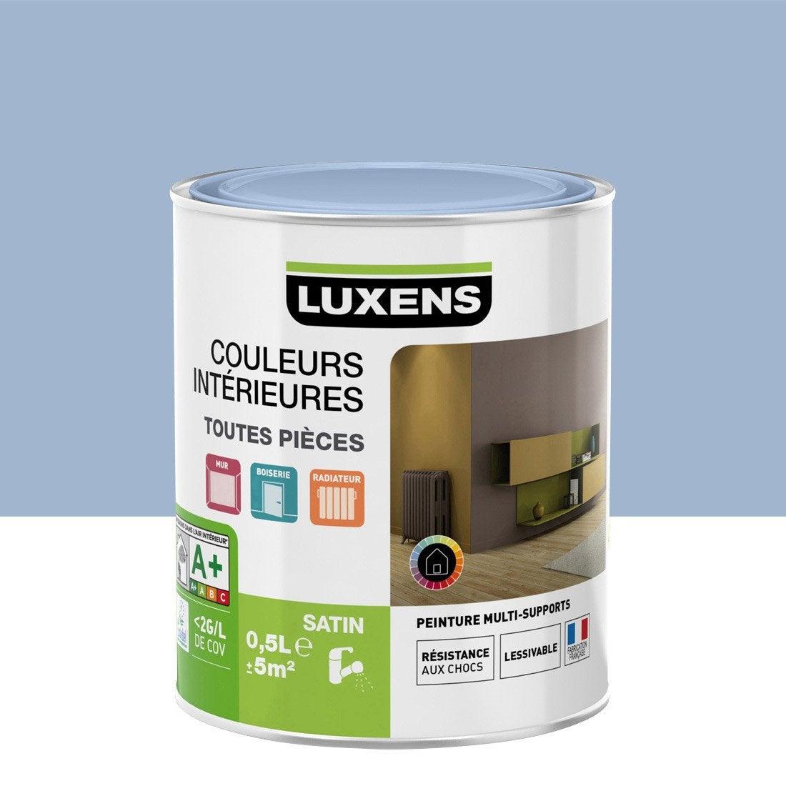 Peinture bleu orageux 5 luxens couleurs int rieures satin - Peinture bleu petrole leroy merlin ...