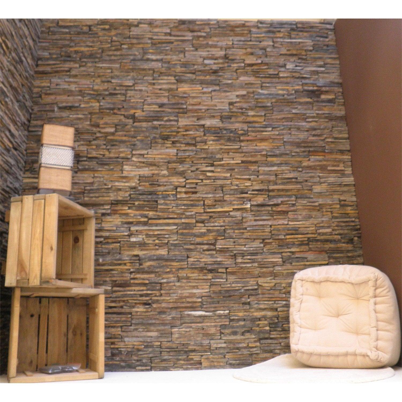 plaquette de parement pierre naturelle multicolore. Black Bedroom Furniture Sets. Home Design Ideas