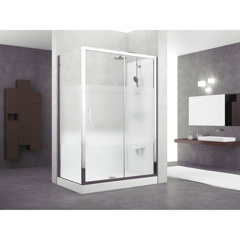 kit de remplacement baignoire par douche entre 2 murs 140. Black Bedroom Furniture Sets. Home Design Ideas