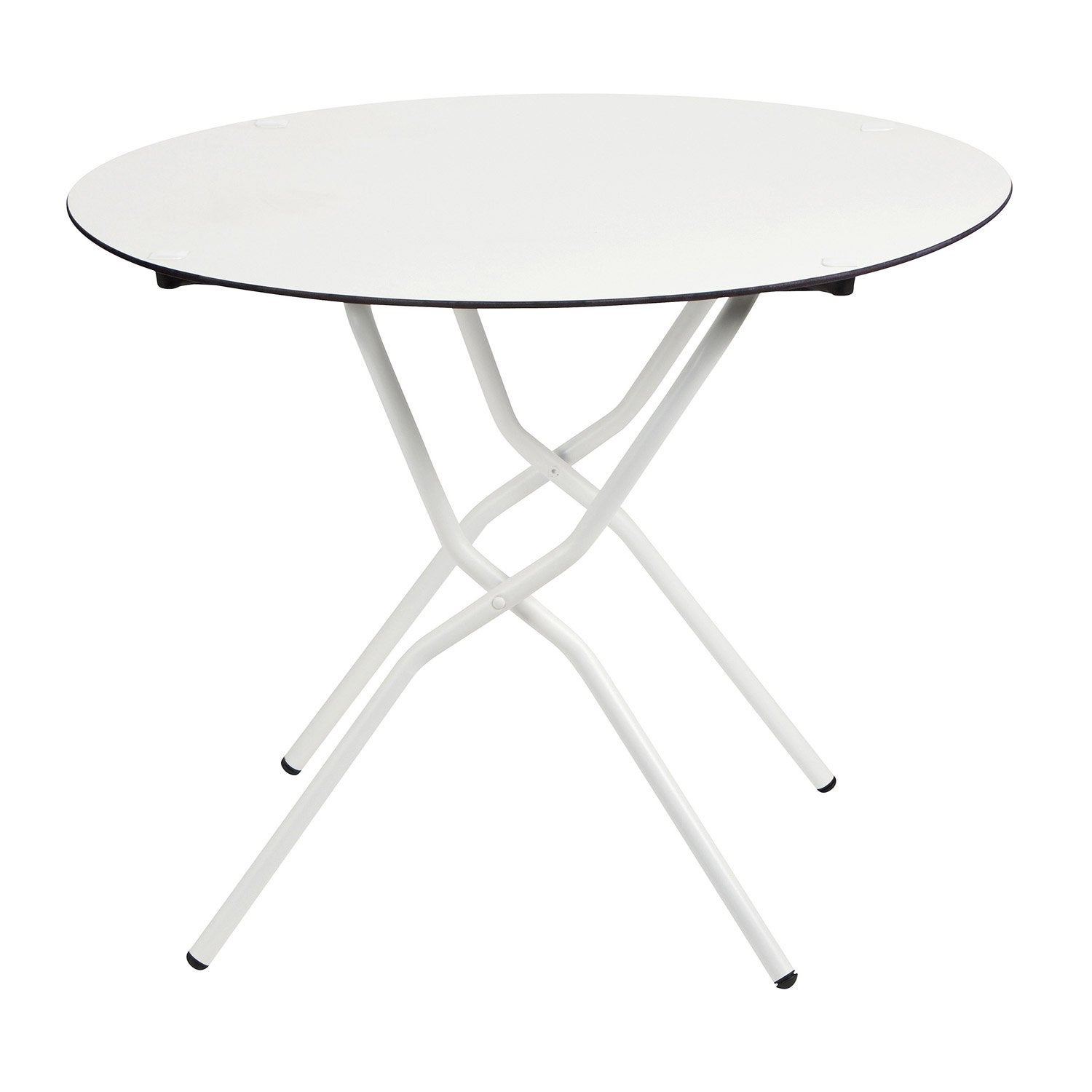 table de jardin lafuma anytime lafuma ronde blanc 4 6 personnes leroy merlin. Black Bedroom Furniture Sets. Home Design Ideas