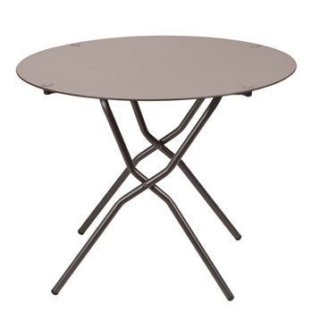 Table de jardin LAFUMA Anytime ronde taupe 2 personnes