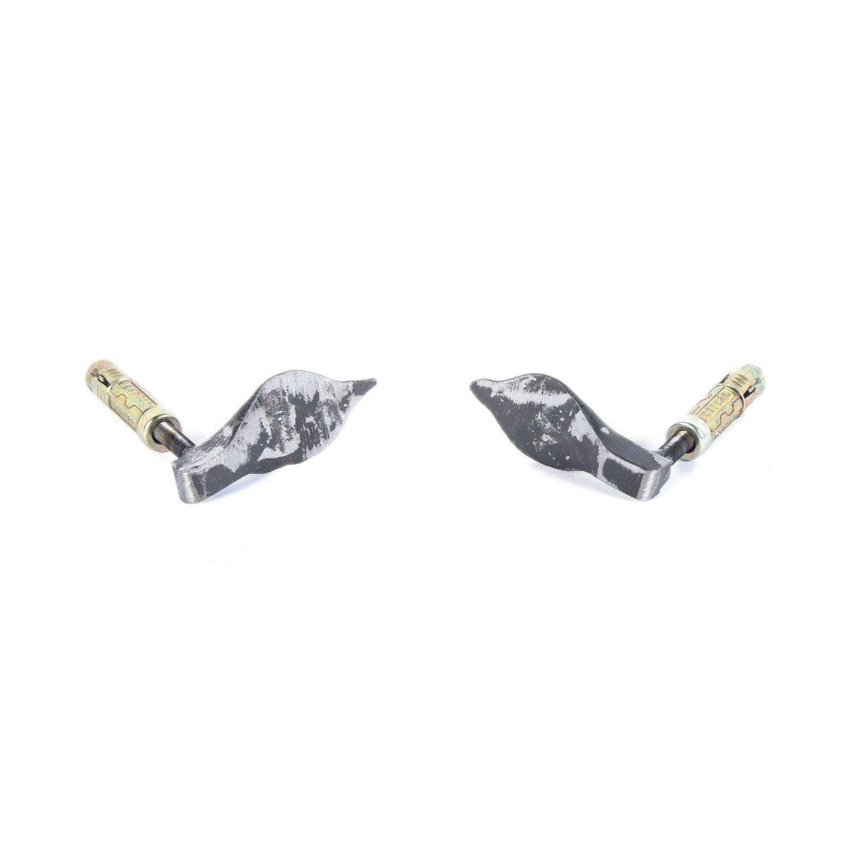 2 pattes de fixation acier lemarquier pour plaque de fonte for Comment fixer une cheville