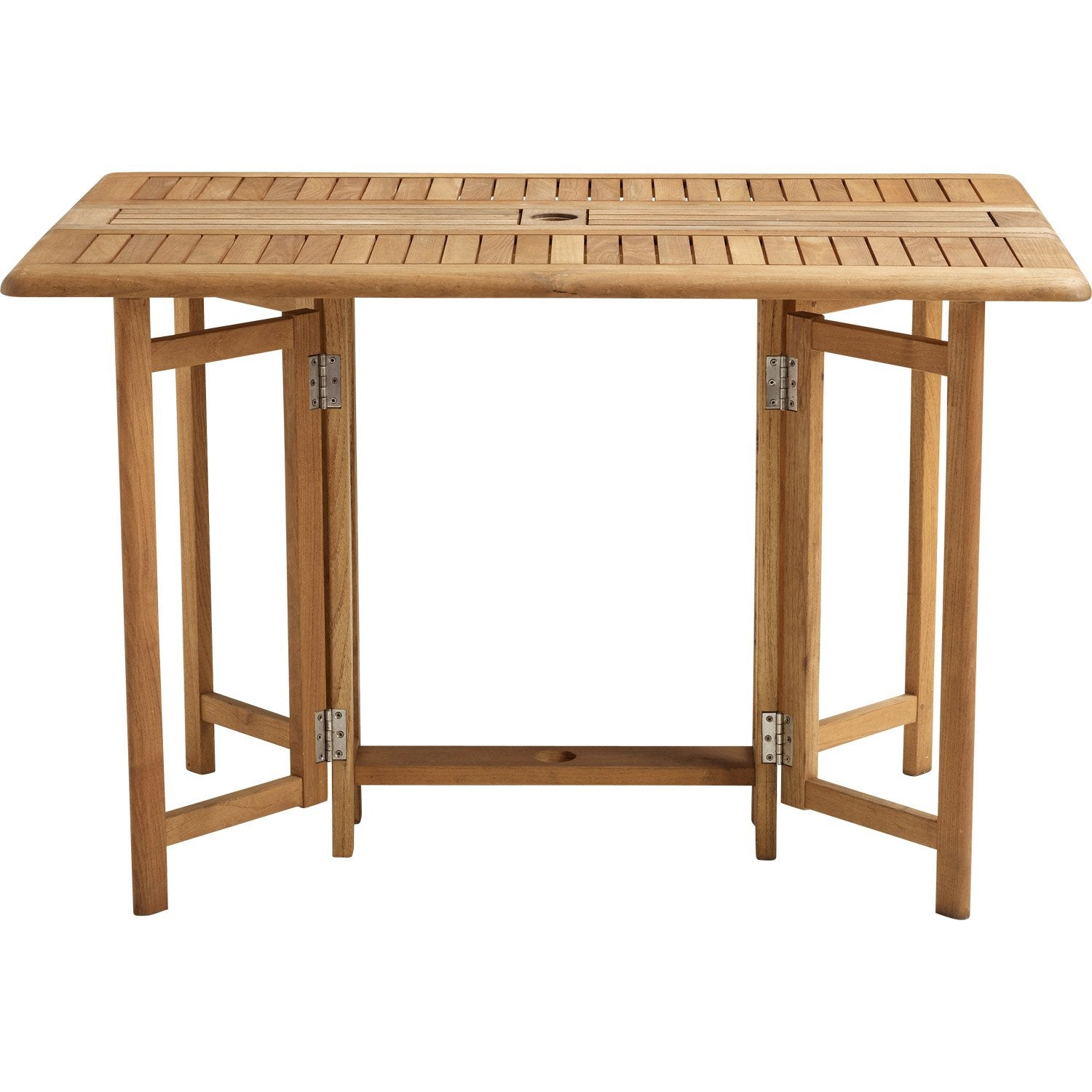 Table de jardin naterial robin rectangulaire miel 6 personnes leroy merlin - Leroy merlin table pliante ...