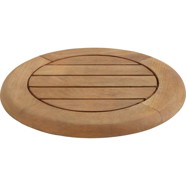 plateau de table naterial robin ronde miel 4 personnes leroy merlin. Black Bedroom Furniture Sets. Home Design Ideas
