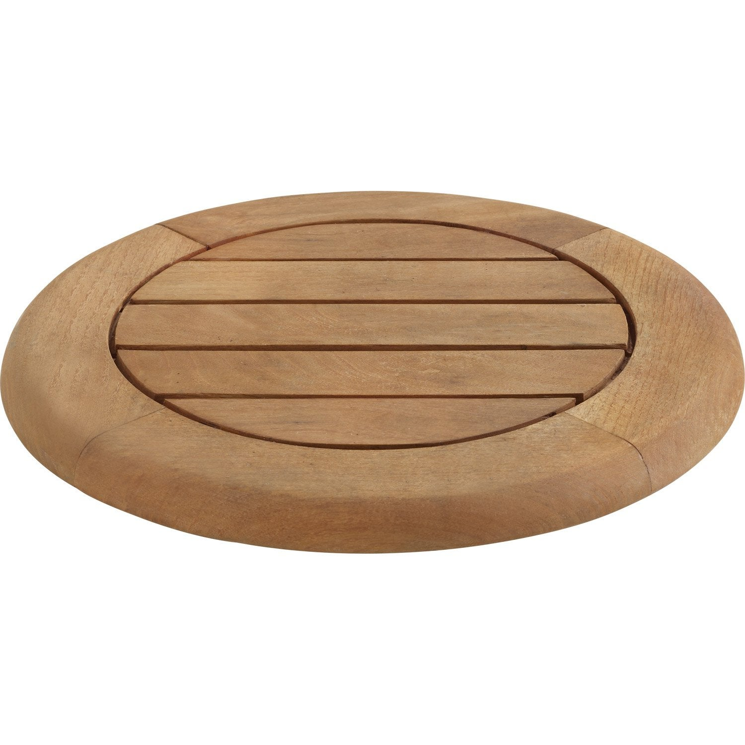 Plateau de table rond robin naterial leroy merlin for Plateau table exterieur