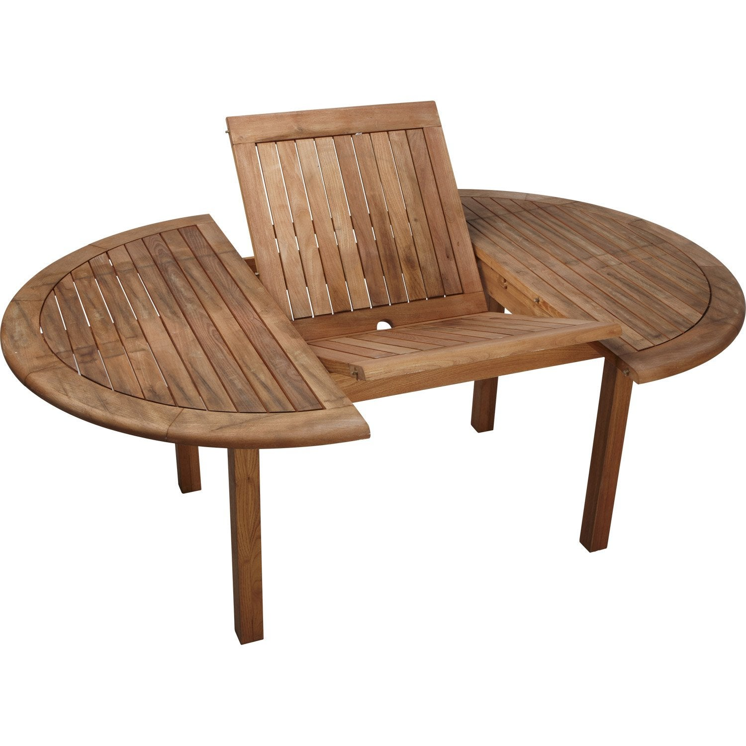 Salon de jardin bois table pliante - Table de jardin rallonge ...