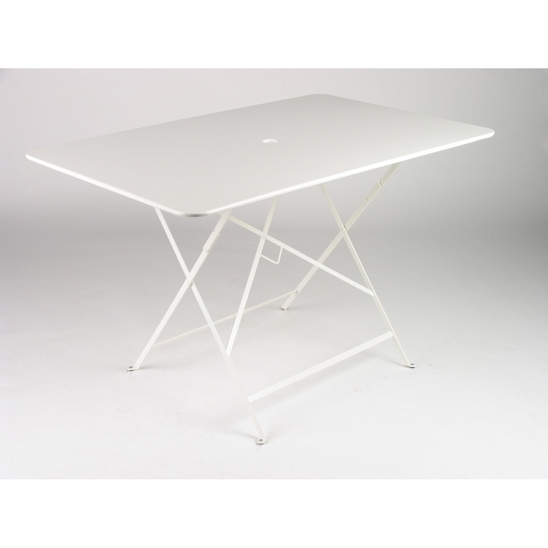 Table de repas rectangulaire bistro blanche - Leroy merlin table pliante ...